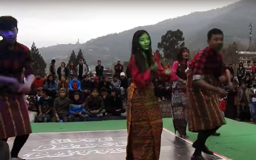 715.Rigsar / Bhutan - Rigsar is a music genre, dominant popular music and dance in contemporary Bhutan. A common feature of Bhutanese television and film, the Rigsar dances are a fast version of traditional dance, in a fusion style that draws from India and Nepalese moves.
