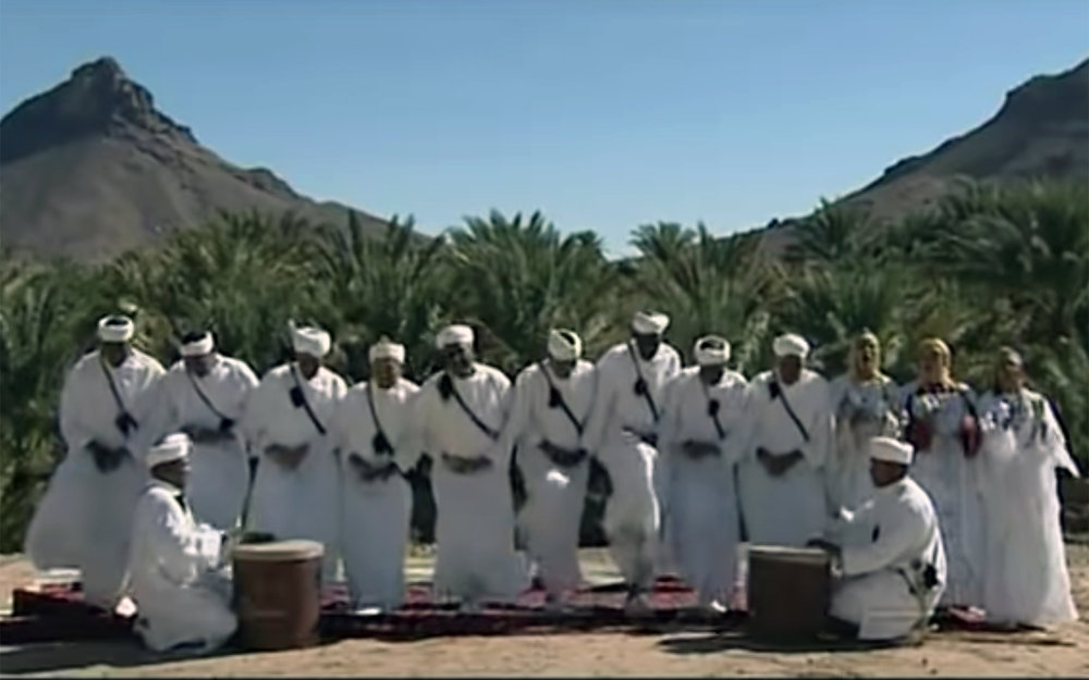 727.Rokba / Morocco - Rokba is an old folk dance originated from Wahat Zagoura in the south of Morocco. It refers to a lyrical genre sung at weddings and local festivals. The expression of these poems is based on dance just as much as singing.