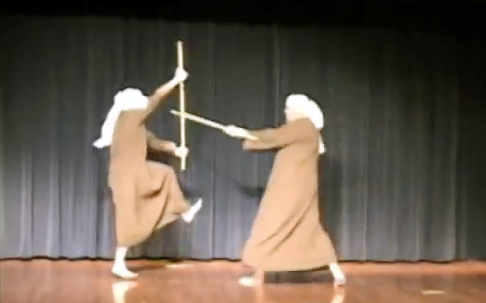 """823.Tahtib / Egypt - Tahtib is coming from """"Hatab"""" which means wooden sticks. It is a kind of dance,that has a long history in upper Egypt and a lot of masculine exhibitionism. It is related to such qualities as honour, courage and power."""