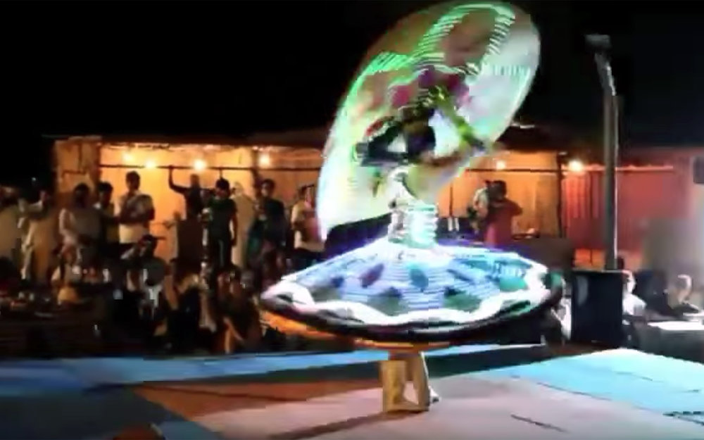 832.Tanoura / Egypt - Tanoura is an Egyptian dance that has roots in Sufi dances. It merged with Folk and Baladi elements to create own style. There are many styles of whirling Dervish dances but Tanoura has its own particular style that ties it to Folklore dancing coming from Egypt.