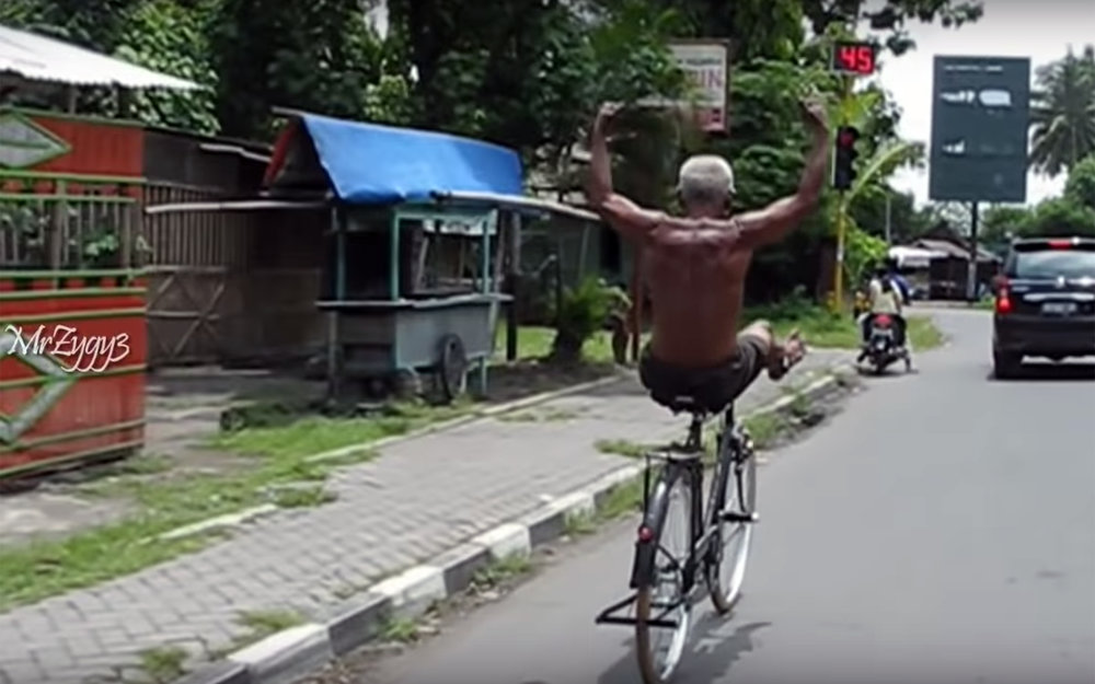 Bicycle Dance / Global - Bicycle Dance is a dance style for people who control their bicycles that good that they are able to make dance and acrobatic moves while riding their bicycle.