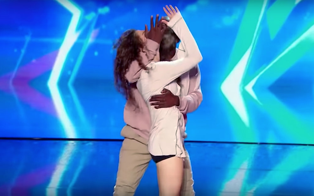 emotional dance against domestic violence / Global - emotional dance against domestic violence is a dance performed by Dakota and Nadia on France Got Talent 2018. They performed a very emotional contact dance on the subject of domestic violence against women, to raise awareness about this subject and they left the whole audience in tears.