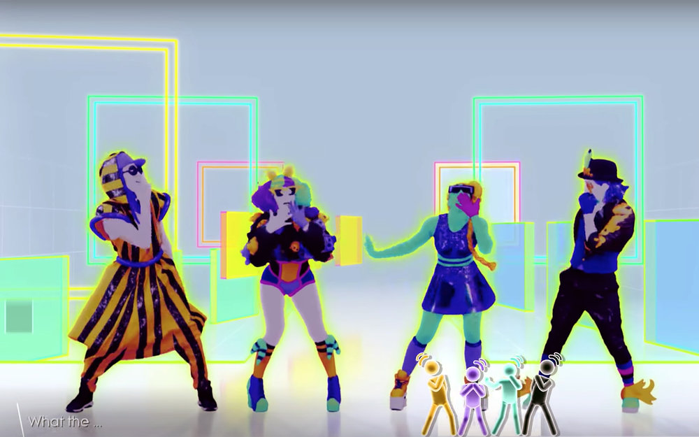 Just Dance / Global - Just Dance is a dance video game that expands upon a concept introduced in a minigame for Rayman Raving Rabbids: TV Party, players mimic the motions of an on-screen dancer's choreography for a selected song, using the Wii Remote to judge the player's motions and accuracy (eschewing accessories such as physical dance pads).