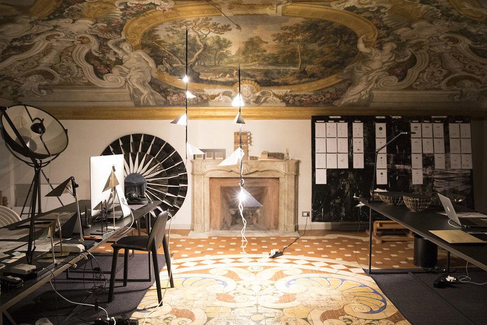 Vue de notre atelier à Rome