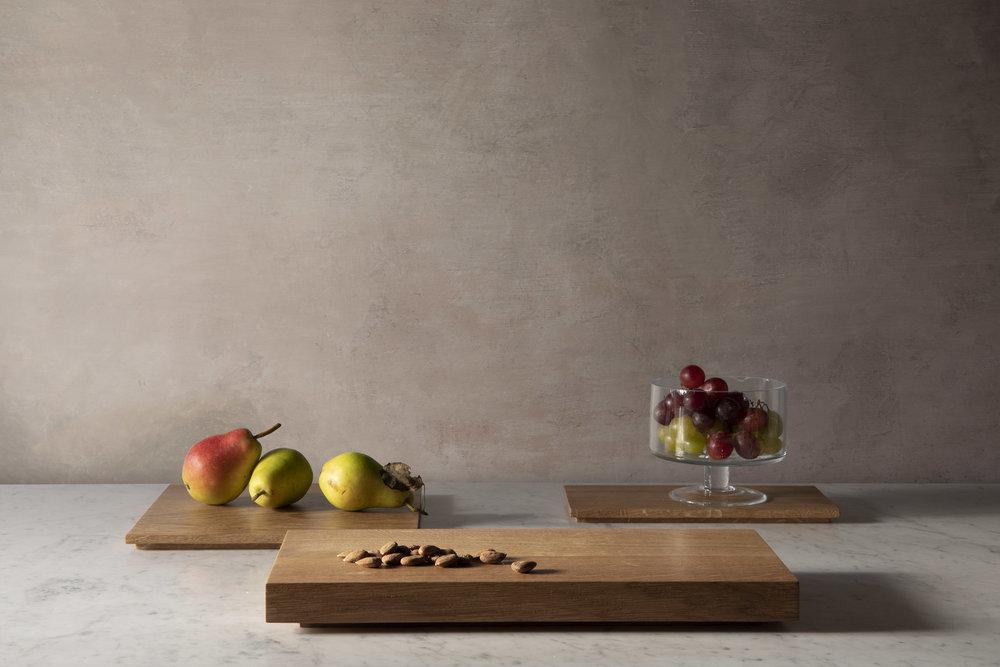 Planches à découper en bois pour la cuisine, chêne massif huilé