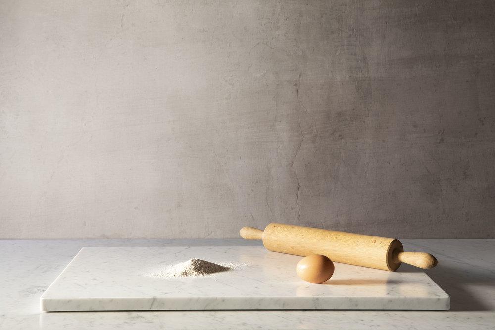 Marbre à pâtisser en marbre blanc de Carrare