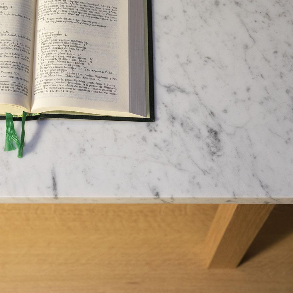 Plateforme console haute marbre detail 01