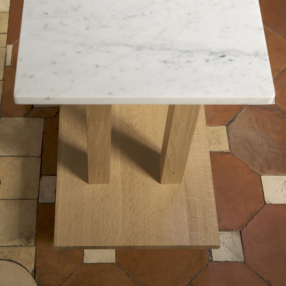 Plateforme console haute marbre detail 02