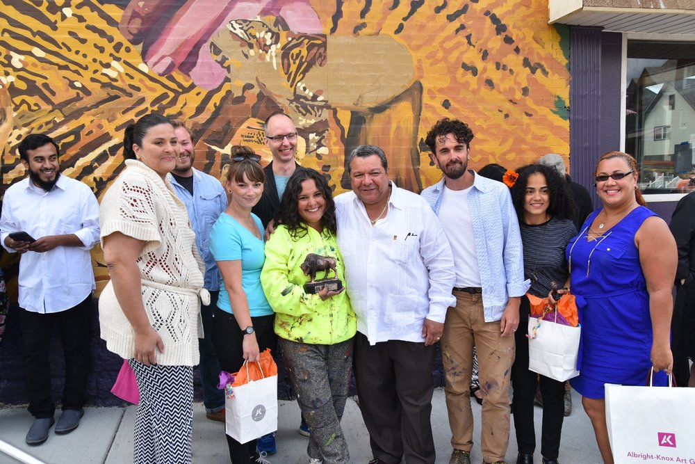 Buffalove, Betsy Casanas, Albright Knox & Hispanic Heritage council - Aug 2017