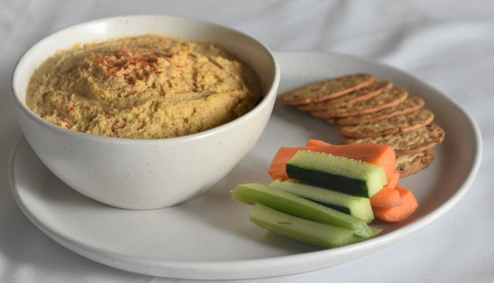 Make this snack into a meal with veggies and crackers