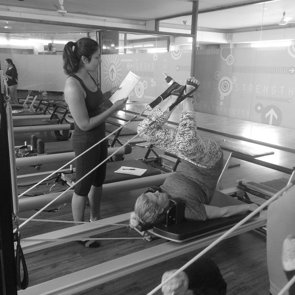 Pilates Reformer teacher training Bangalore The Zone Studio Anjali Sareen