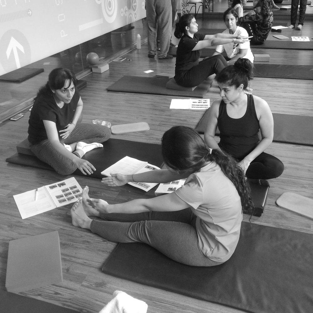 mat pilates teacher training fitness course Bangalore Zone Studio Anjali Sareen