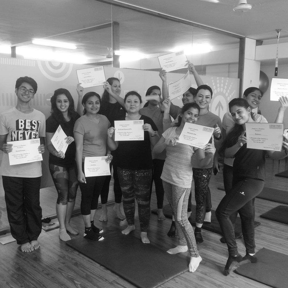 Teacher training fitness course Bangalore Anjali Sareen