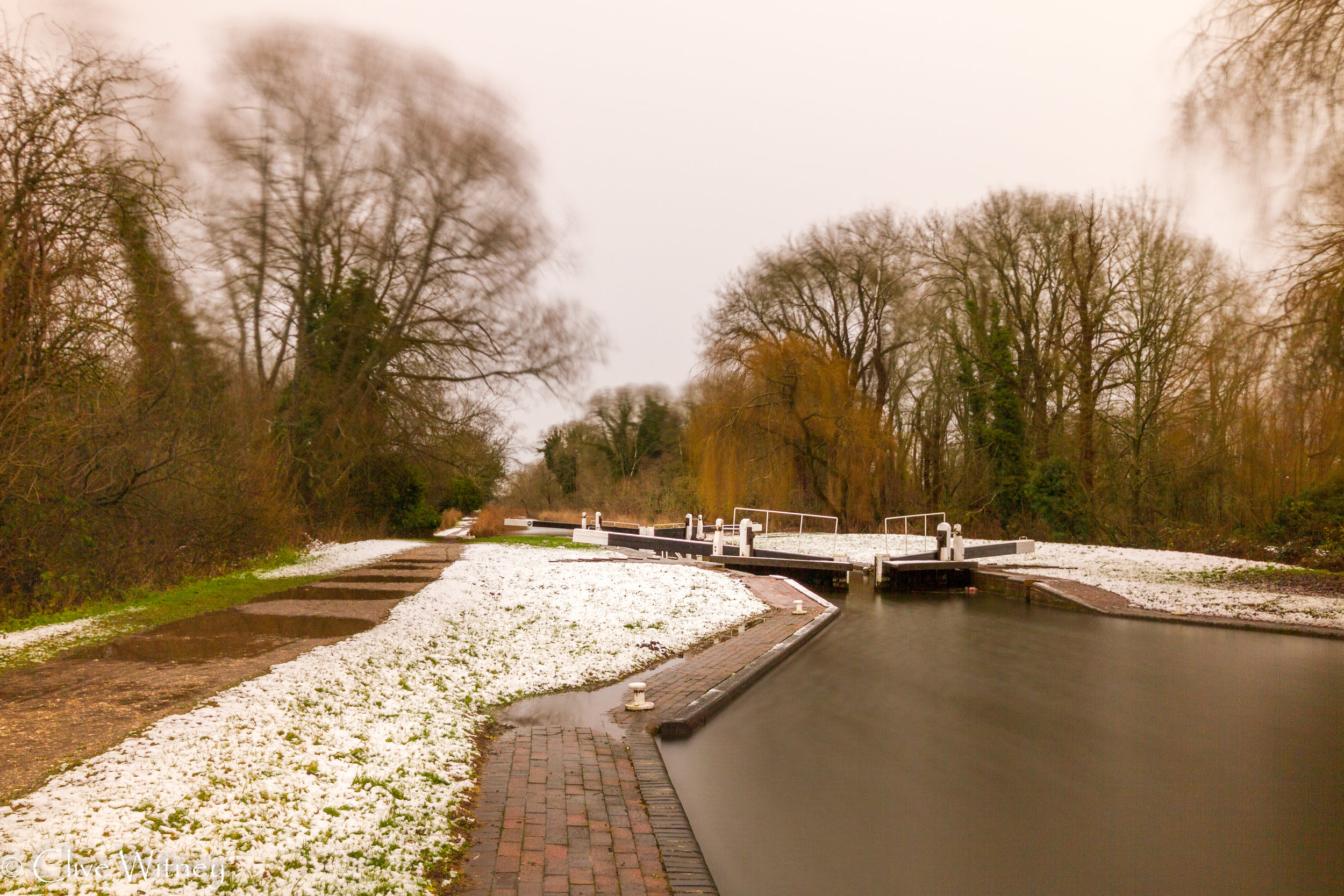 snow on the canal