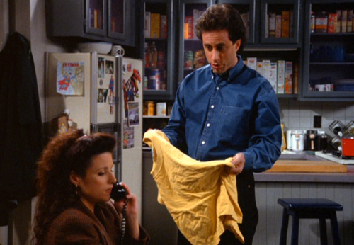 """I call him, Golden Boy."" My new yellow t-shirt reminds me of  this episode of Seinfeld  - anyone else?"