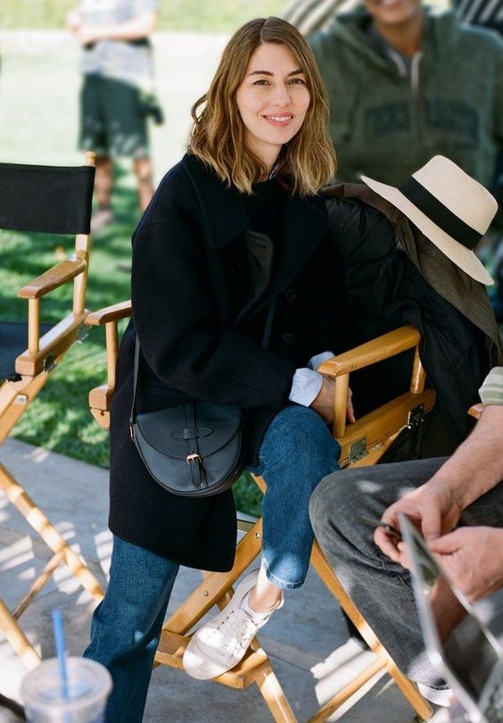 Forever admiring the style of Sofia Coppola - I love this simple, elegant look for early autumn.