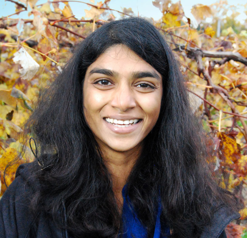 Zania Pothen - Research EngineerZania Pothen works as a Research Engineer on the Precision Vineyard Sensing project at Carnegie Mellon University. Her primary focus, is to develop efficient and robust computer vision algorithms for detecting vine berries and measuring berry characteristics from images collected in vineyards. She has completed her Masters in Robotics System Development from Carnegie Mellon University in 2013.