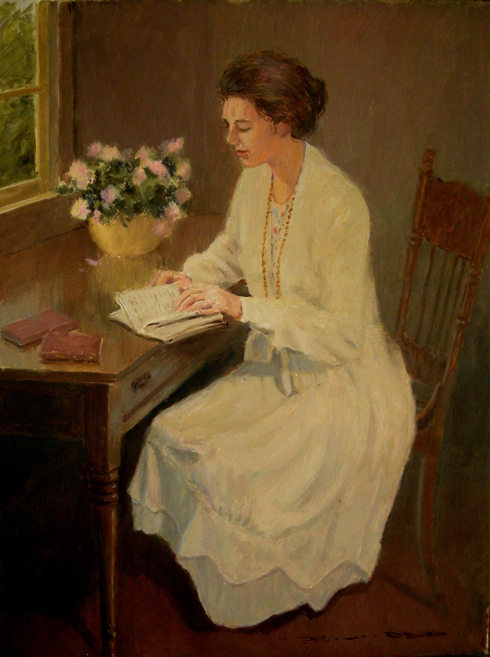 Girl Reading by Bill Odd