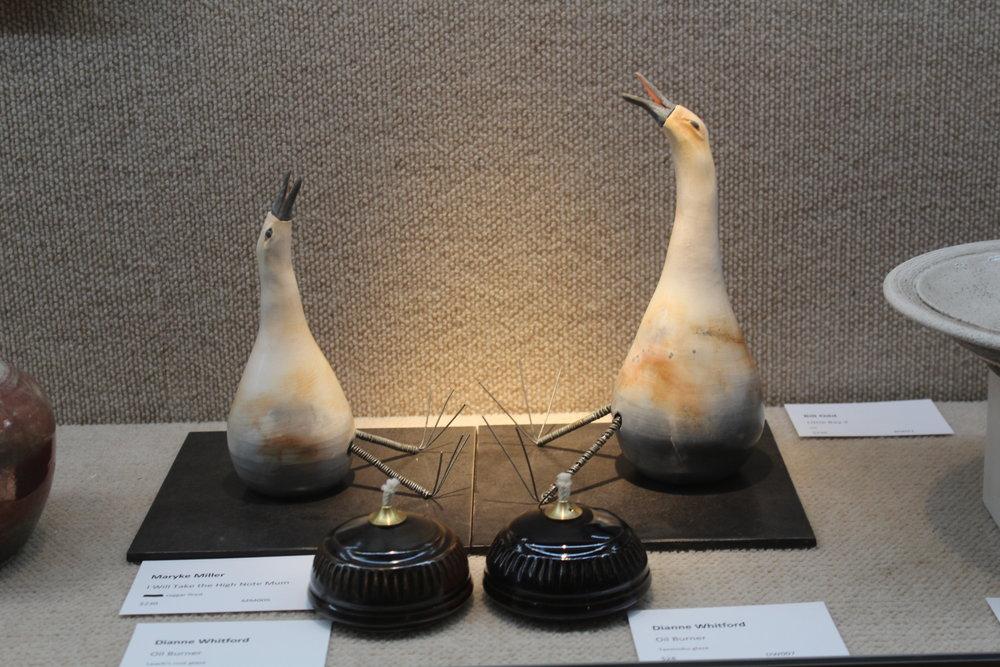 Maryke Miller (birds) & Dianne Whitford (oil burners)