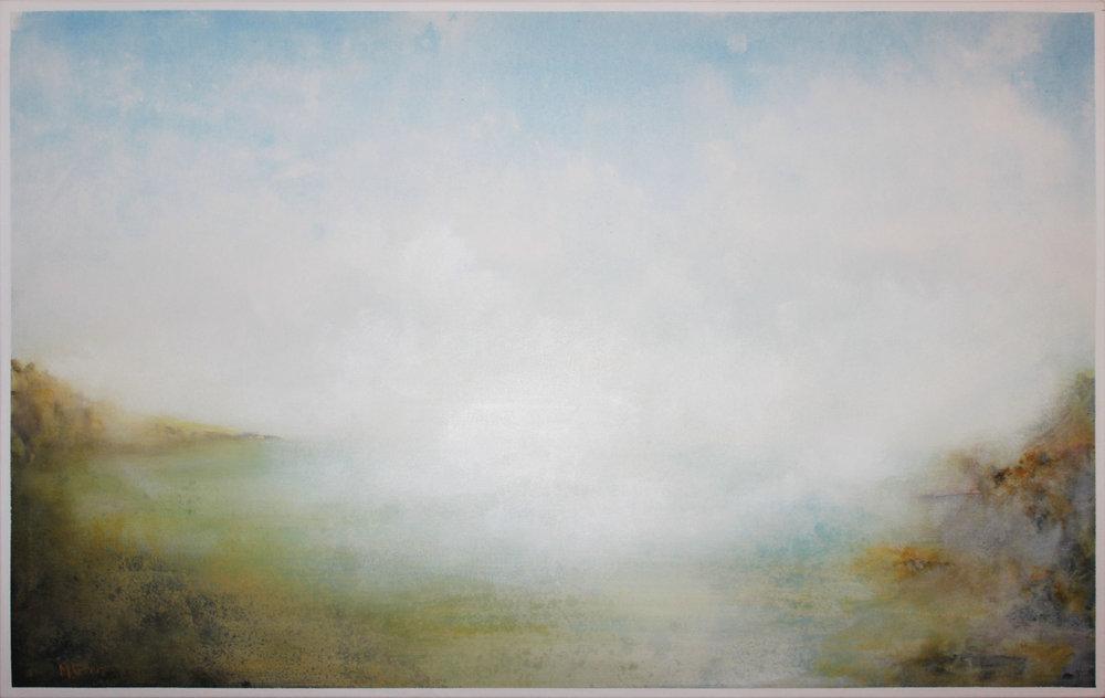 6. GALLAGHER_Martin_Clearing Mist (Toonumbar Dam)_122cmx76cm_Acrylic on Canvas.jpg