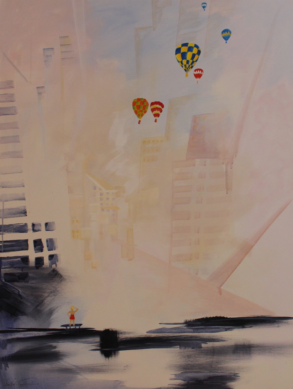12. GALLAGHER_ Martin_Southside of Chicago_ Acrylic on Canvas 91cmx122cm.JPG