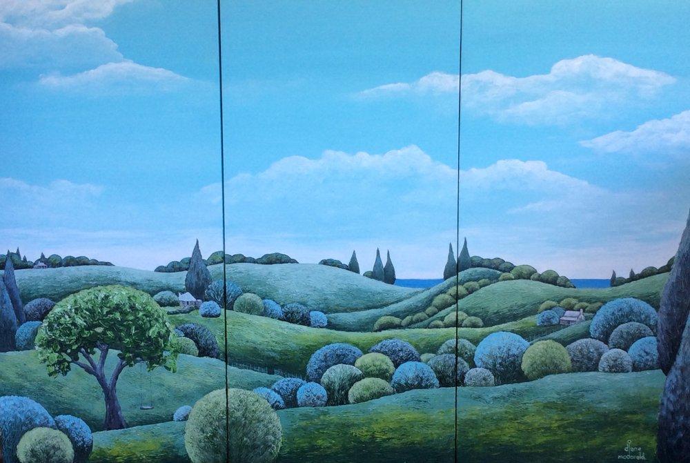 Hinterland (triptych) by Diane McDonald