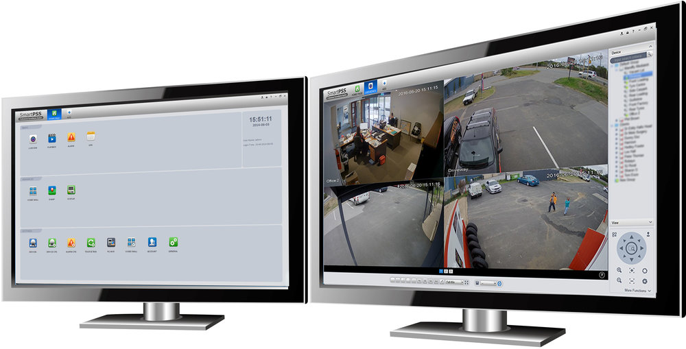 Remote viewing - Use the platform to live view, replay files, manage cameras, set alerts... Can manage over 100 cameras