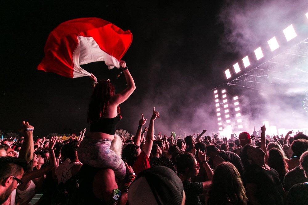music festival scene