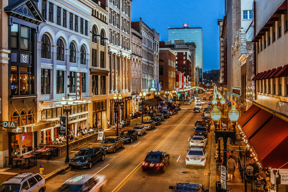 Historic Gay Street Downtown Knoxville Courtesy Bruce McCamish Photography.