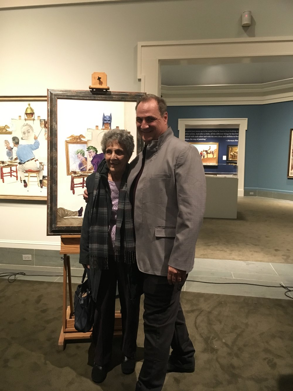 Me and My Mother at my Lecture at the Norman Rockwell Museum