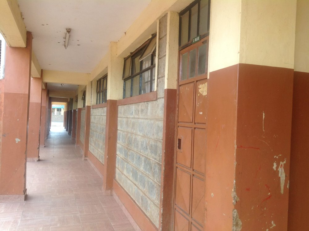 Empty school corridors during the unending school holidays