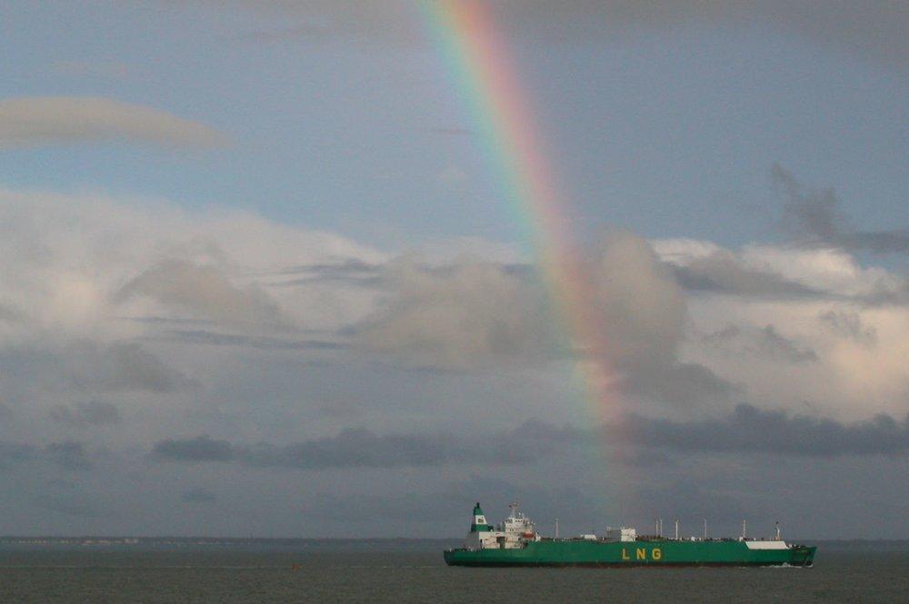 Saint-Nazaire | Saint-Marc sur Merc | Ocean Atlantique | Cargo | Rainbow | arc-en-ciel | ©sandrine cohen