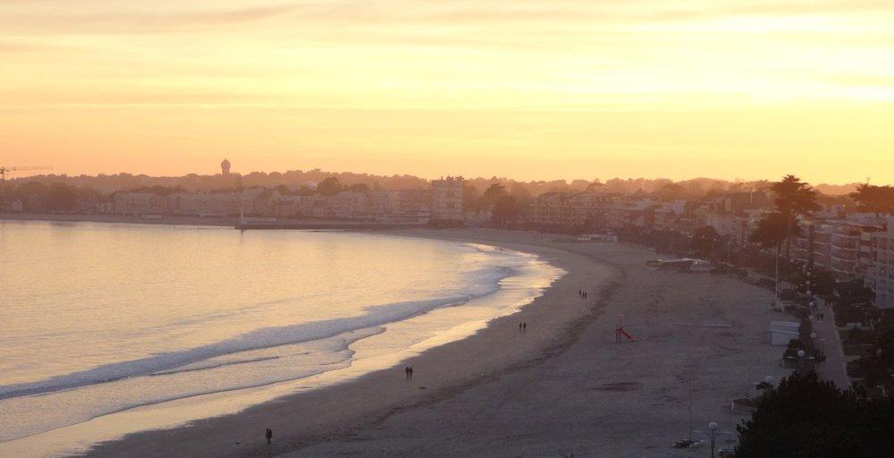 La Baule | Sunset on the seafront and the beach | Loire Atlantique | Bretagne Sud | photo sandrine cohen