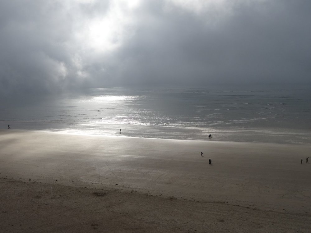 La Baule | Clouds on the beach | Bicycle on the beach | Bretagne | Photo sandrine cohen