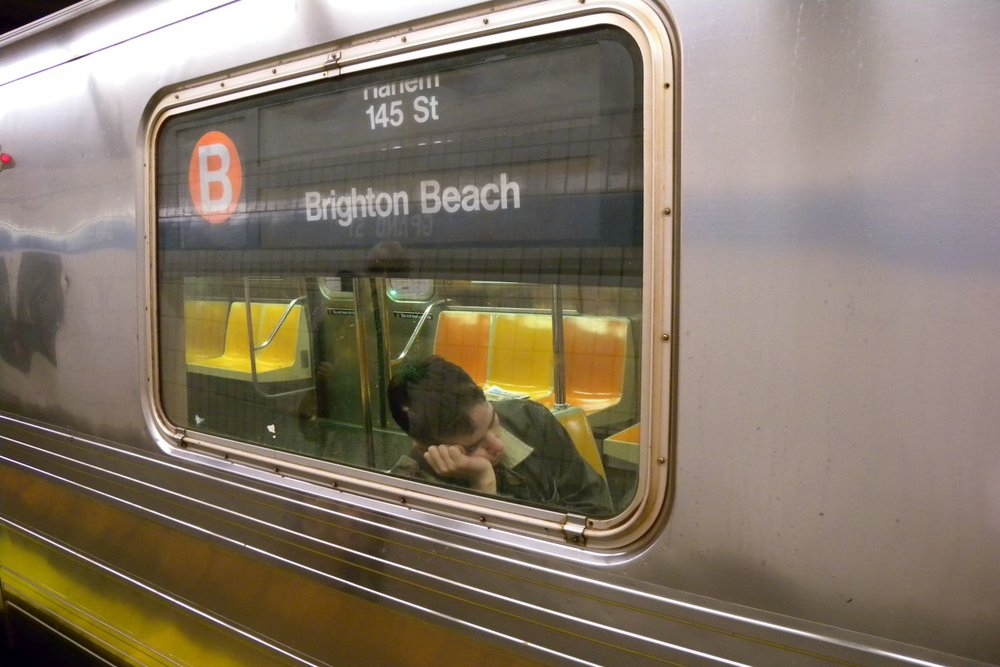 New York | Subway Brighton beach | People sleeping on subway | photo sandrine cohen