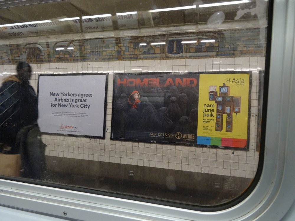 New York subway | Homeland poster in subway | Homeland tv serie | photo sandrine cohen