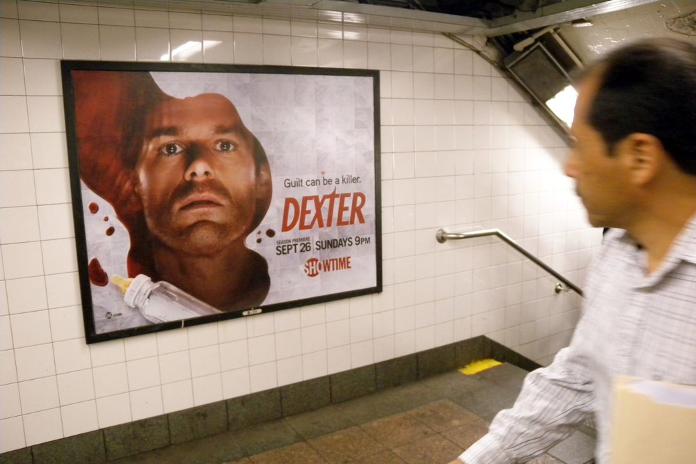 New York subway | Dexter poster in the subway | Dexter tv serie | Photo sandrine cohen