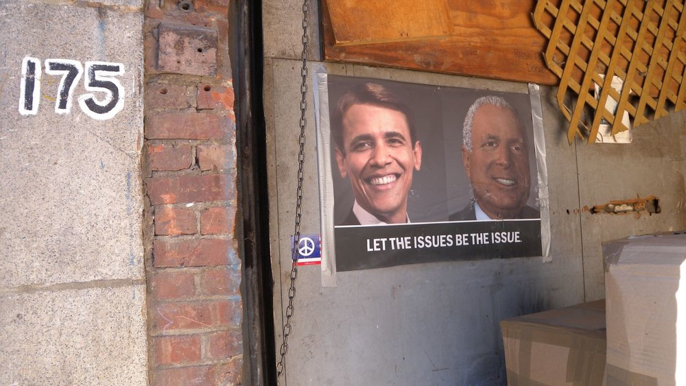 New York 2009 | Obama président | If McCain black and Obama white | Street art | Soho | ©sandrine cohen