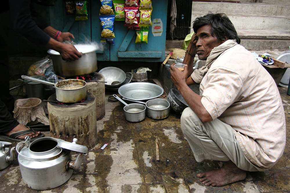 Kolkata - Calcutta | Indian street food | Chai in the street | Indian tea | ©sandrine cohen