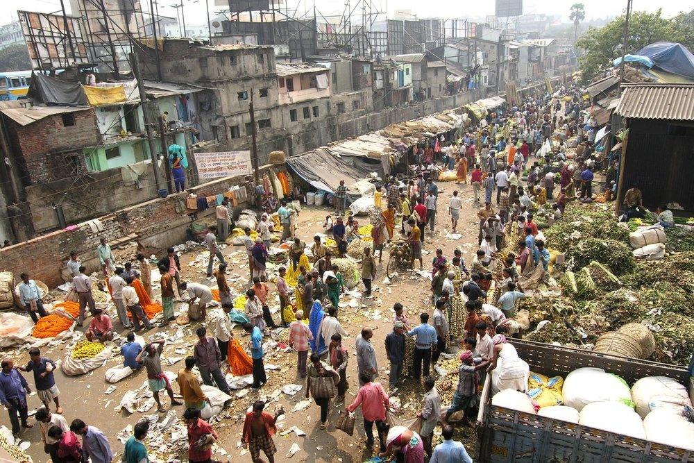 Kolkata - Calcutta   Flowers market   ©sandrine cohen