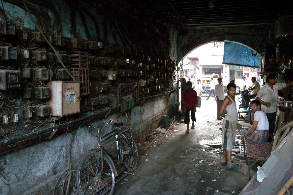 Electric meters on a street in Mumbai | ©sandrine cohen©sandrine cohen