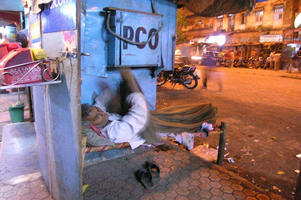 Mumbai - Bombay | Bed on the street in Mumbai | Bed on Grant road | ©sandrine cohen