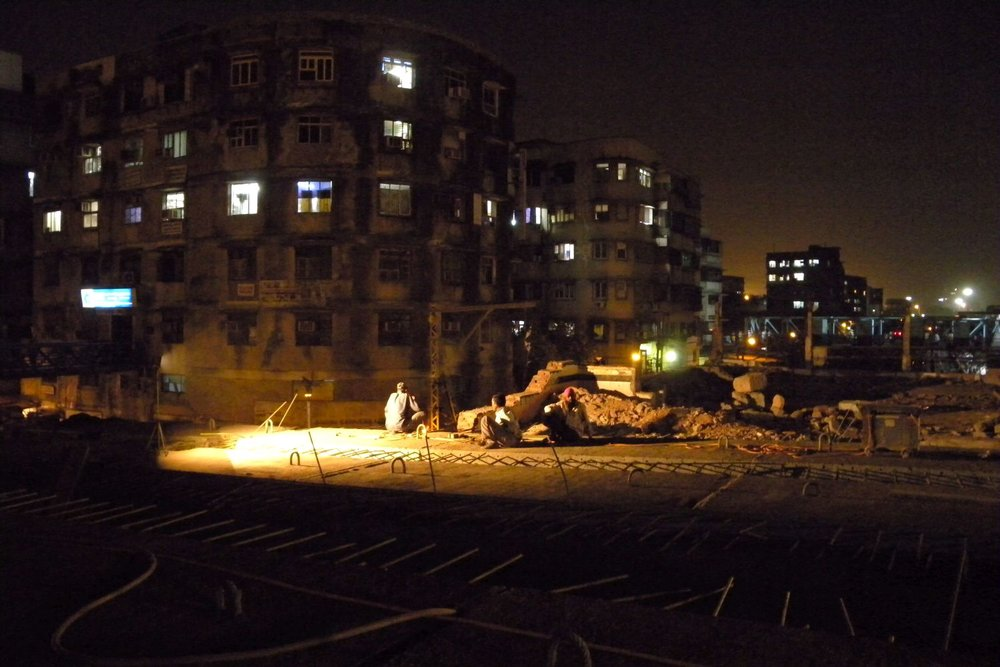 Mumbai - Bombay | Indian workers on a construction site | ©sandrine cohen