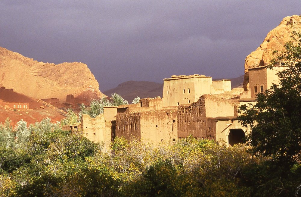 Morocco | Old village in landscape after the rain | photo sandrine cohen