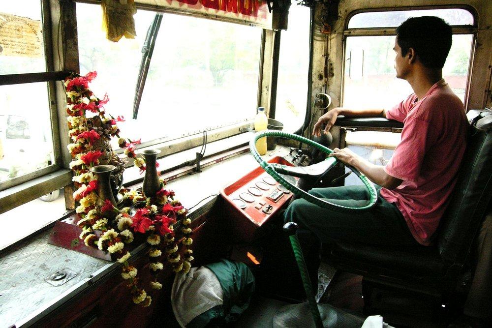 Kolkata - Calcutta   Bengali bus driver   ©sandrine cohen