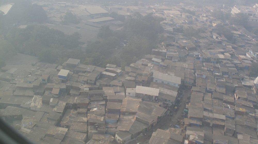 Dharavi view from plane | Mumbai - Bombay | Dharavi, the biggest slum of Asia | India | ©sandrine cohen