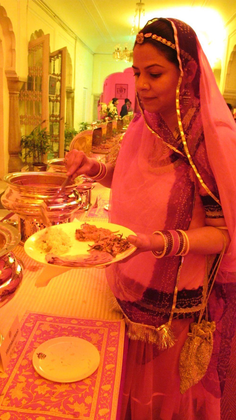 City palace of Jaipur   Royal family   Private party   Time to Diner with silver dishes   ©sandrine cohen
