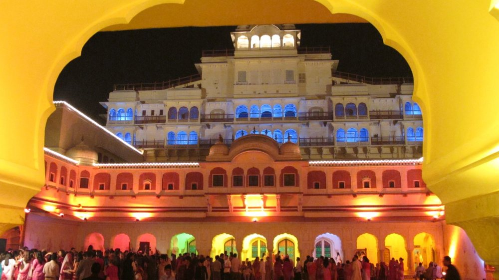 City palace of Jaipur   Place of city Palace at night  Royal family   Private party   ©sandrine cohen