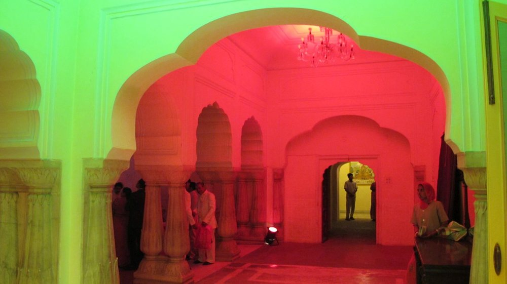 City palace of Jaipur   Holi party   Royal family   Private party   Holi day   Colors party  ©sandrine cohen