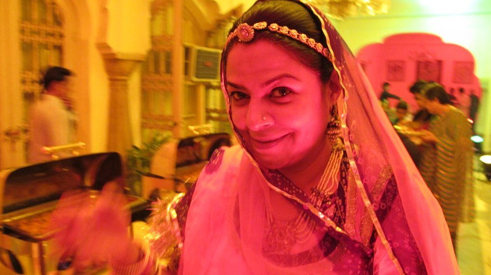 City palace of Jaipur   Royal family   Pink woman  Private party   ©sandrine cohen